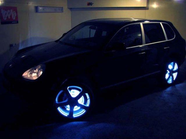 Подсветка колес в автомобиле